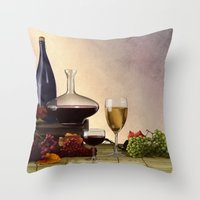 wine Throw Pillows featuring Wine by Azot