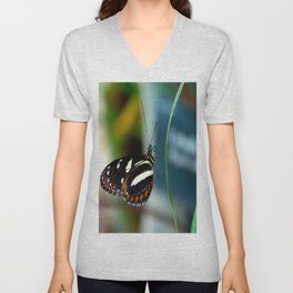Doris Longwing Butterfly-2 Unisex V-Neck