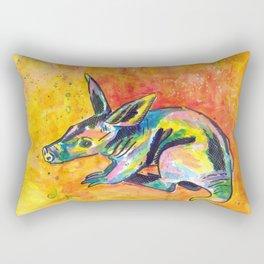 Earth Pig (Aardvark) Rectangular Pillow
