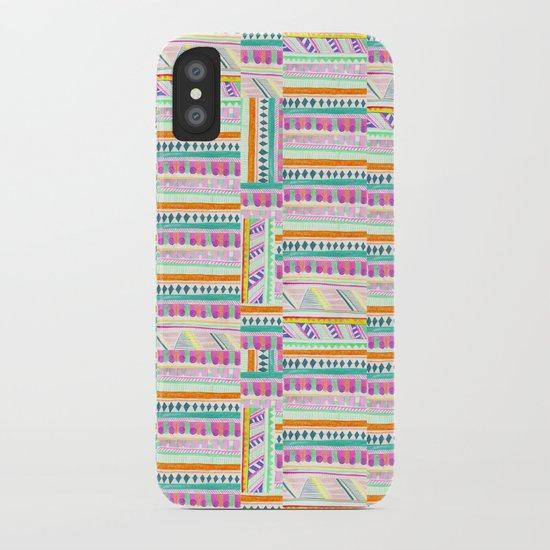 multicoloured AZTEC + iPhone Case