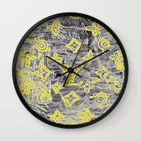 lv Wall Clocks featuring LV NEONIZED by JANUARY FROST