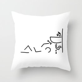 plumber do-it-yourselfer water Throw Pillow