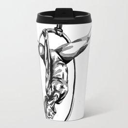 Black and White Hoop Travel Mug