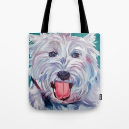 The Westie Kirby Dog Portrait Tote Bag