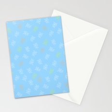 Blue Marine Feather Stationery Cards