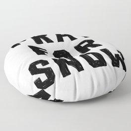 Pray For Snow Floor Pillow