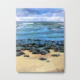 Poipu Beach Landscape Metal Print