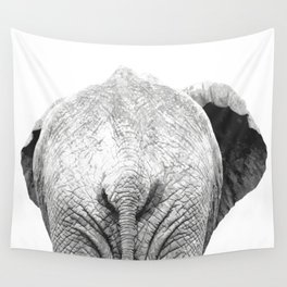 Black and white elephant animal jungle Wall Tapestry