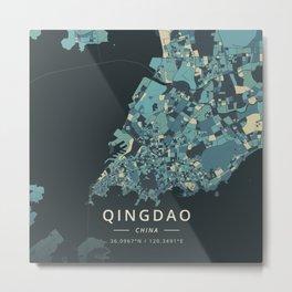 Qingdao, China - Cream Blue Metal Print