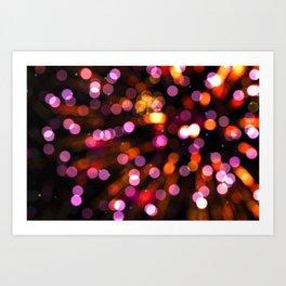 Fireworks Pink (Color) Art Print