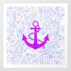 Purple Anchor Art Print