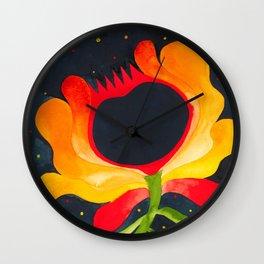 Night blossom  Wall Clock