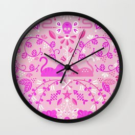 Kitten Lovers – Pink Ombré Wall Clock