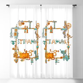 Steampunk Blackout Curtain