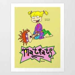 Rug Rats = Mat Rats Art Print