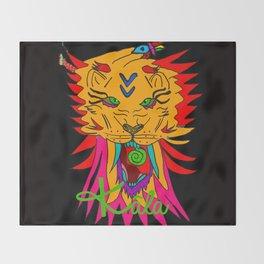wizard lion2 Throw Blanket