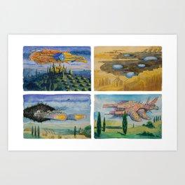 Battle Cruisers of Tuscany, quad 1 Art Print