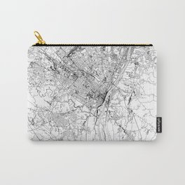 Albany White Map Carry-All Pouch