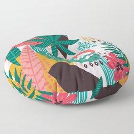 Matisse Inspired Pop Art Tropical Fun Jungle Pattern Floor Pillow