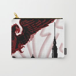 red eagle and the black fortress . illustration Carry-All Pouch