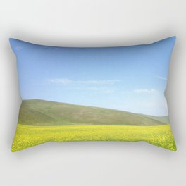 yellow flower field Rectangular Pillow