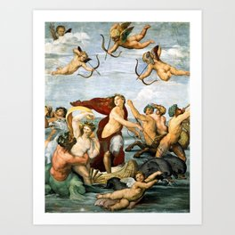 "Raffaello Sanzio da Urbino ""Galatea"", 1512 Art Print"