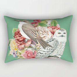 Lady with Birds(portrait) 2 Rectangular Pillow