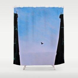 Flying Free Destruction Shower Curtain