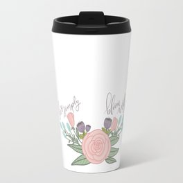 Live Simply Floral Art Travel Mug