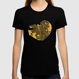 gold leaf skeleton T-shirt