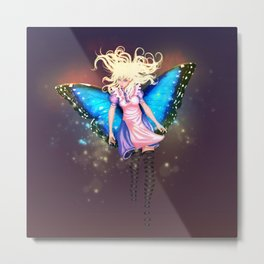 Butterfly Alice Metal Print