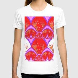 Red-Purple Modern Art Deco T-shirt