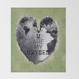Autumn Love - You Are My Oxygen Throw Blanket