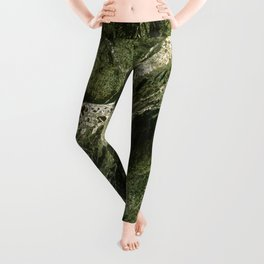 Marble Rain Forest Green Leggings