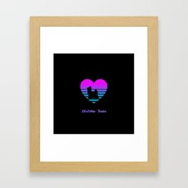 Yorkshire Terrier Love Cyberpunk Vaporwave Dog Puppy Gift Framed Art Print