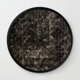 Ink Stitch: Smokey Quartz (dark) Wall Clock