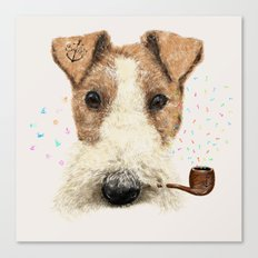 fox terrier sailor Canvas Print