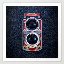 Red Retro Camera Art Print