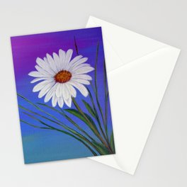 White daisy -2 Stationery Cards