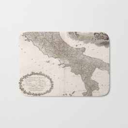Vintage Map of Italy (1808) Bath Mat