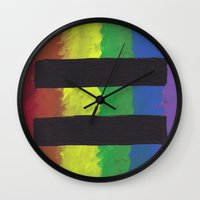 equality Wall Clocks featuring Marriage Equality by The Painted Kat