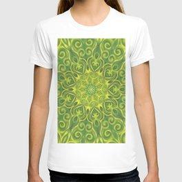 green center swirl mandala T-shirt