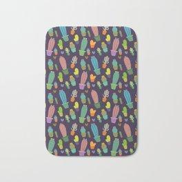 Cactus pattern colorful Bath Mat