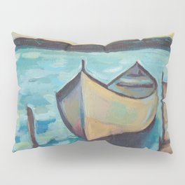 Boat to the Pier Pillow Sham
