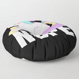 Nope Unicorn Shirt, Funny Cute Animal Lover Floor Pillow