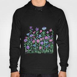 Cheerful spring flowers watercolor Hoody