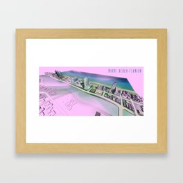 Collins Avenue in Miami Beach #2 Framed Art Print