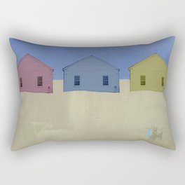 Beach Cottages, colorful houses, coastal, row houses Rectangular Pillow