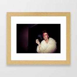 Man smoking Framed Art Print