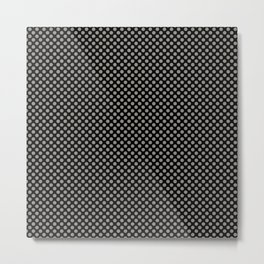 Black and Rock Ridge Polka Dots Metal Print